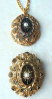 Vintage Victorian Revival Brooch And Necklace By Sphinx